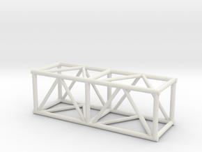 "5' 20.5""sq Box Truss 1:48 in White Natural Versatile Plastic"