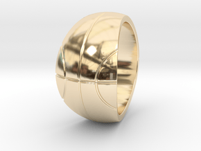 Size 10 Basketball Ring  in 14K Yellow Gold