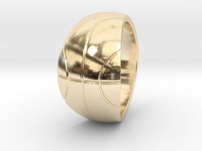 Size 12 Basketball Ring  in 14K Yellow Gold