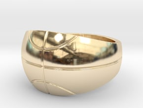 Size 13 Basketball Ring  in 14K Yellow Gold