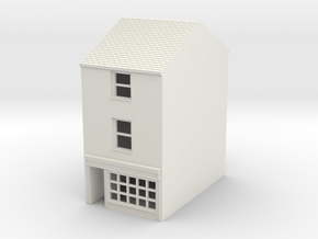 TFS-75 N Scale Topsham Fore Street building 1:148 in White Natural Versatile Plastic