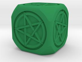 Mage's dice in Green Processed Versatile Plastic