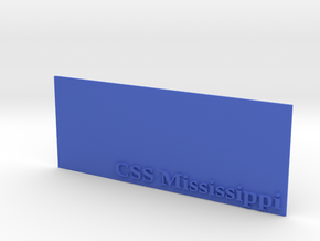 Base for 1/600 CSS Mississippi in Blue Processed Versatile Plastic