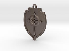 Shield 002 in Polished Bronzed Silver Steel