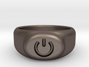 Power Ring(2) in Polished Bronzed Silver Steel