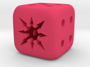 Chaos Dice in Pink Processed Versatile Plastic
