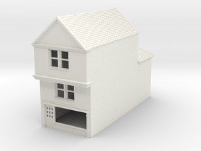 TFS-77 N Scale Topsham Fore Street building 1:148 in White Natural Versatile Plastic