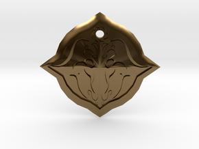 Bull Symbol1 in Polished Bronze