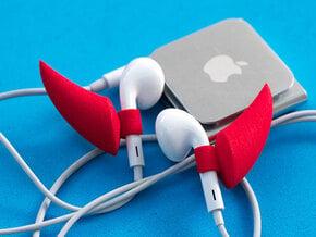 EarPod Earrings   Devil Horns in Red Processed Versatile Plastic