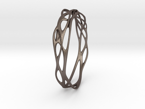 Incredible Minimalist Bracelet #coolest (S or M/L) in Polished Bronzed Silver Steel: Small