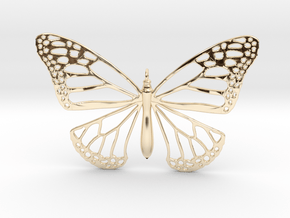 Smooth Monarch Pendant in 14k Gold Plated Brass
