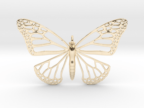 Strong Monarch Pendant in 14k Gold Plated Brass