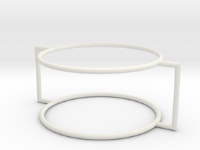 Two circles frame in White Natural Versatile Plastic
