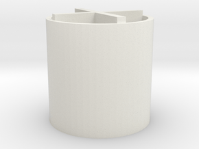 Bobby Pin Holder in White Natural Versatile Plastic