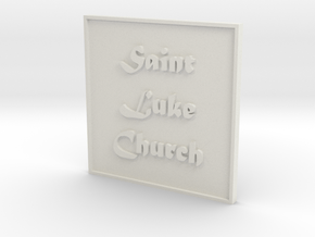 1:24 Church Sign in White Natural Versatile Plastic