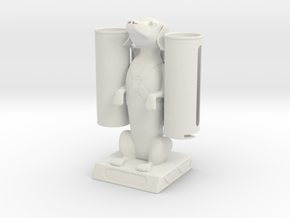 The Dashing Dachs with Coin Dispenser in White Natural Versatile Plastic