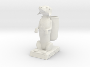 The Dashing Dachs with Backpack in White Natural Versatile Plastic
