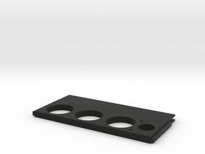 Spitfire Dimmerscreen Centre plate in Black Natural Versatile Plastic