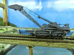 Nz120 (1/5) Craven 40-ton Steam Crane - Chassis in Smoothest Fine Detail Plastic