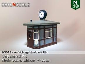 Aufsichtsgebäude mit Uhr (N 1:160) in Smooth Fine Detail Plastic