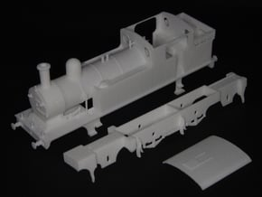 LNER class F5 2.4.2 tank loco in White Natural Versatile Plastic