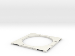 T-32-wagon-turntable-84d-100-corners-flat-1a in White Natural Versatile Plastic