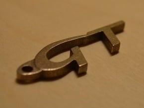 Gt Keychain in Polished Bronzed Silver Steel
