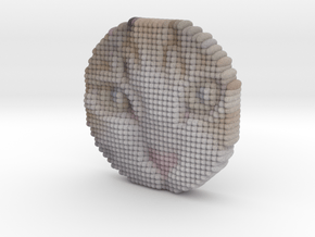 Cat Face Object - hime 0 with IT3D in Full Color Sandstone
