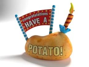 Congratulations - Have a Potato! in Full Color Sandstone