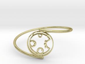 Carol - Bracelet Thin Spiral in 18k Gold Plated Brass