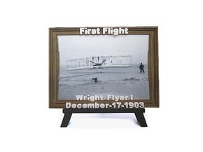 'First Flight' 3D Relief Framed Micro-Painting in Full Color Sandstone