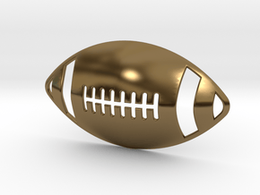 3D Football Pendant in Polished Bronze