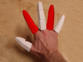 Iron Man Pointer/Ring Finger (x1) in White Natural Versatile Plastic