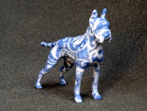 Blue Flower Boxer in Full Color Sandstone