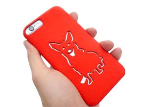 Corgi Iphone 6 Case  in Red Processed Versatile Plastic
