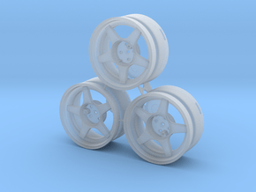 CATERHAM 5x Spoke x3 (1-12) Frosted Ultra Detail in Smooth Fine Detail Plastic