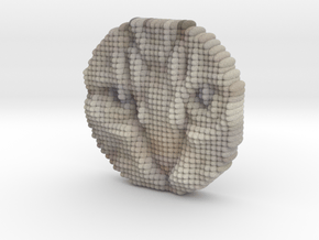 Cat Face Object - sakura 0 with IT3D in Full Color Sandstone