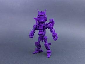 """Minibot """"Gunface"""" in Purple Processed Versatile Plastic"""