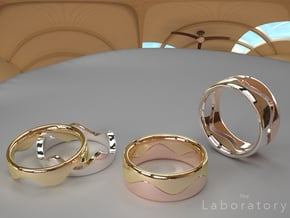 Wave Ring (Bottom) in 14k Gold Plated Brass