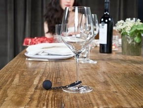 Wine Charm - Ball And Chain in Black Natural Versatile Plastic