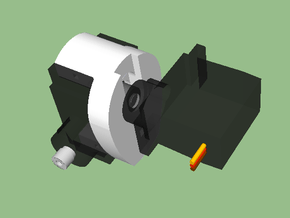 Servo-to-Servo Horn for TowerPro Micro Servo in White Natural Versatile Plastic
