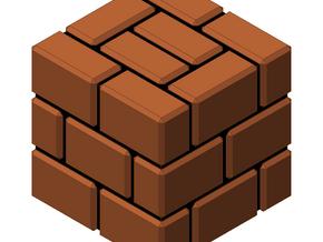 Super Mario Brick Block in White Natural Versatile Plastic