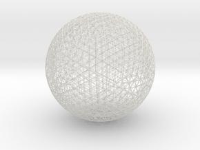 Space Frame Geodesic Sphere in White Natural Versatile Plastic