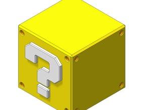 Super Mario Question Block in White Natural Versatile Plastic