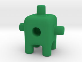 Tiny Cactus Ugly Friend in Green Processed Versatile Plastic