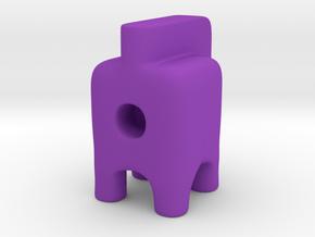 Tiny Rocker Ugly Friend in Purple Processed Versatile Plastic
