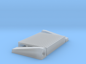 """1/18 Intercooler 16"""" Flow Length By 12"""" Wide in Smooth Fine Detail Plastic"""