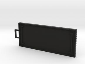 Brackets Personalized Keychain in Black Natural Versatile Plastic