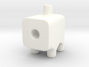 Tiny Cannon Ugly Friend in White Processed Versatile Plastic