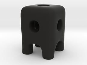 Tiny Wireframe Ugly Friend in Black Natural Versatile Plastic